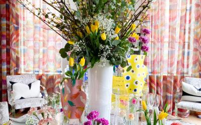 Spring Tabletop Decor in 4 Easy Steps